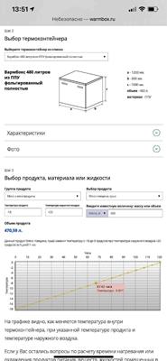 Калькулятор термоконтейнеров вармбокс warmbox